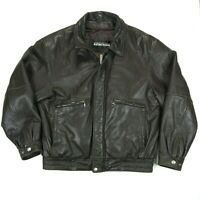 KENNETH COLE REACTION Mens Jacket Brown Lamb Ski Leather Zip Out Lining Size XL