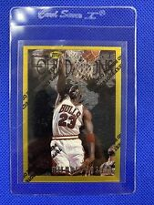 MICHAEL JORDAN 1996-97 TOPPS FINEST GOLD BORDER RARE WITH PROTECTIVE COATING
