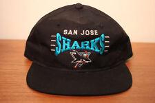 Deadstock Vintage SAN JOSE SHARKS Hockey Snapback Hat