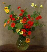 """high quality oil painting handpainted on canvas""""nasturtiums"""""""