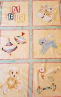 New Robert Kaufman Sweet Baby Fabric Panel Quilting Sewing Crafting 100% Cotton