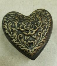 Rose Heart Jewelry Box Ready to Paint, Unpainted, You Paint Ceramic Bisque