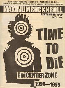 MAXIMUM ROCKNROLL MRR MARCH 1999 #196 U.S. PUNK FANZINE - FREE UK POSTAGE