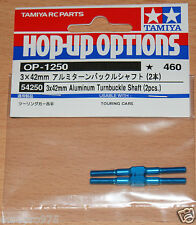 Tamiya 54250 3x42mm Aluminum Turnbuckle Shaft (2 Pcs.) (TA06/TB04/FF03), NIP