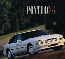 1992 PONTIAC Brochure : TRANS AM,GTA,GRAND PRIX,GRAND AM,SPORT,BONNEVILLE,LeMANS
