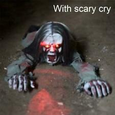 Scary Halloween Long-hair Crawling Zombie Animated Party Haunted Decor P9O9