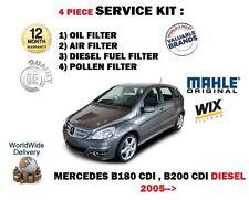 Per MERCEDES b180 b200 CDI Diesel 2005 -- > Olio Aria Carburante Polline Filtro Servizio Kit