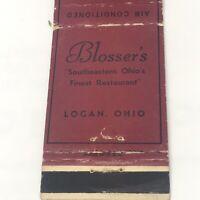 Vintage Matchbook Blosser's Logan Ohio Advertisement