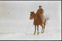 GERMAN OFFICER WW1 WINTER FUR COAT CAVALRY WAR ANTIQUE PHOTO RPPC POSTCARD