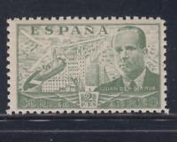 ESPAÑA (1939) NUEVO SIN FIJASELLOS MNH - EDIFIL 885 (2 pts)JUAN DE CIERVA LOTE 3