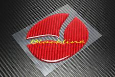 For 2013+ Mazda 3 Axela Hatchback Red Carbon Fiber Trunk Emblem Decal Filler