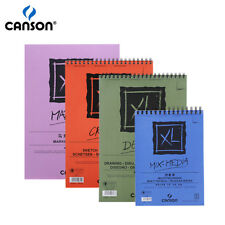 Canson XL Mix Media/Marker/Sketch/Dessin Pads Side Wire Watercolor Notebooks