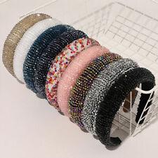Head Hoop Band Rhinestone Beaded Hairbands Fashion Crystal Headband Accessories
