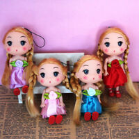 Mini Girl Doll Key Chain Kids Plush Baby Dolls Keychain Toys Keyring Decors YAN