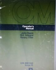 John Deere 35A 35 Rotary Tiller 400 Garden Tractor Owner & Parts (2 Manuals) 64p