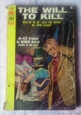 THE WILL TO KILL by Robert Bloch (Ace Paperback, 1954) USA edition Rare