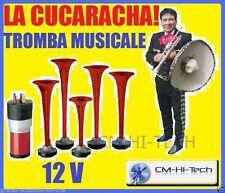 NEW! TROMBE CLACSON TUNING BRANO MUSICALE LA CUCARACHA X AUTO FURGONE SUV JEEP °