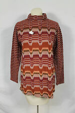 Vintage NWT Jack Winter Burgundy 70s Zig Zag Multi Sweater Hipster Sz L Chevron