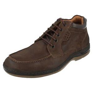Sale Herren Anatomic & Co Brown Leather Schnürer Stiefeletten FRANCISCO / 101070