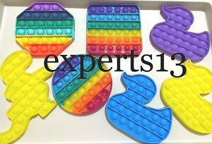 Push Pop Bubble Sensory Fidget Kids Toy Special Needs Silent Autism Classroom UK