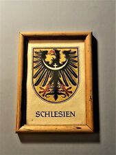 Original koloriertes Wappen  Schlesien Heinz Reise um 1950? Heraldik Genealogie