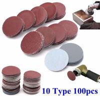 100 Teile 5.1cm 50mm Schleifmaschine scheibenschlösser Schleif Pad polierend Pro