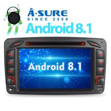 Android 8.1 Autoradio DAB+ GPS Navi DVD Für Mercedes Benz C/CLK Class W203 W209