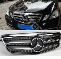 2009-2013 Mercedes W212 E Class BLACK Gloss CHROME Grille Saloon or Estate ONLY