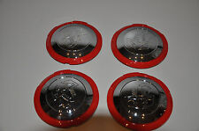 red with chrome centre caps for fiat 500 abarth from 2008