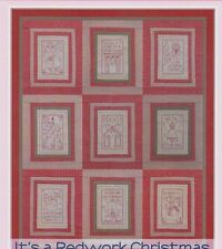 It's A Redwork Christmas - stitchery & pieced quilt PATTERN - Rosalie Quinlan