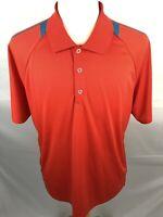Adidas Climachill Mens Golf Polo Orange Blue Size 2XL