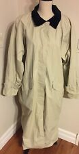Misty Harbor Women's Long Any Weather Beige Cotton lining Trench Raincoat Sz 1X