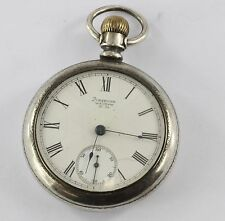 Antique 1891 Waltham Coin Silver Size 18 11 Jewel Model 1883 Pocket Watch