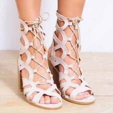 High (3 in. to 4.5 in.) Suede Strappy Heels for Women