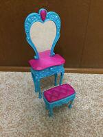 Barbie Doll The Diamond Castle Princess Vanity Mirror Dresser Bedroom Furniture
