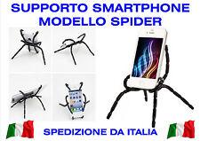 Supporto Smartphone Telefono Porta Cellulare Casa Auto Flessibile Ragno