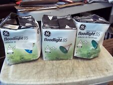3 Pc Lot Blue & 2 Green Floodlights Ge 13465 85W Par38 Reflector Light Bulb