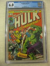 The Incredible Hulk #181 CGC 6.0 Fine OW Pgs First Appearance of Wolverine!