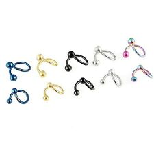 Titanium Twist Circular Barbell Ball Lip Earring Belly Navel Ring