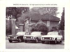 Bristol 411 Series IV 1974 - UK Sales Brochure - Own Collection VGC