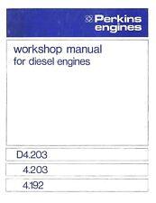 MANUAL ENGINE PERKINS 4.203 4.192 4203 4/203 4194 4/194 Massey Ferguson WORKSHOP