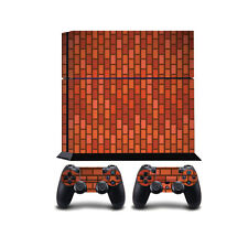 Red Brick PS4 PlayStation 4 Vinyl Wrap / PlayStation 4 PS4 Skin Sticker Cover...