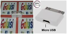 ADATTATORE DA MICRO USB A 30 PIN PER IPHONE/IPAD/IPOD SINCRO CAVO DATI