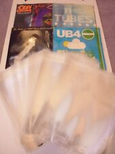 PACK OF 50 x POLYPROPYLENE RESEALABLE STORAGE BAGS FOR VINYL SINGLES