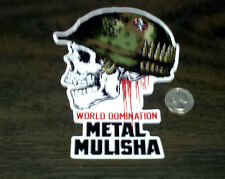 "METAL MULISHA 6"" WORLD DOMINATION Helmet Skull Sticker Car Window Decal Graphic"