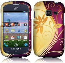 Samsung Galaxy Discover S730G Rubberized HARD Case Phone Cover Splendid Swirl