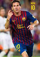Mini Poster MESSI  FC BARCELONA 40 x 50 cms