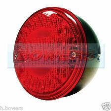 12V/24V VOLT LED REAR ROUND HAMBURGER FOG LAMP LIGHT CARAVAN/TRAILER/TRUCK/LORRY