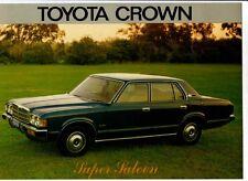 1978 TOYOTA MS85 CROWN SUPER SALOON Australian Market Brochure