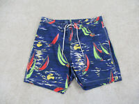 Ralph Lauren Polo Swim Trunks Mens Large Blue Green Board Shorts Bathing Suit